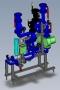 Модульный тепловой пункт для отопления (вентиляции) с зависимым присоединением к теплосети (без теплообменника)